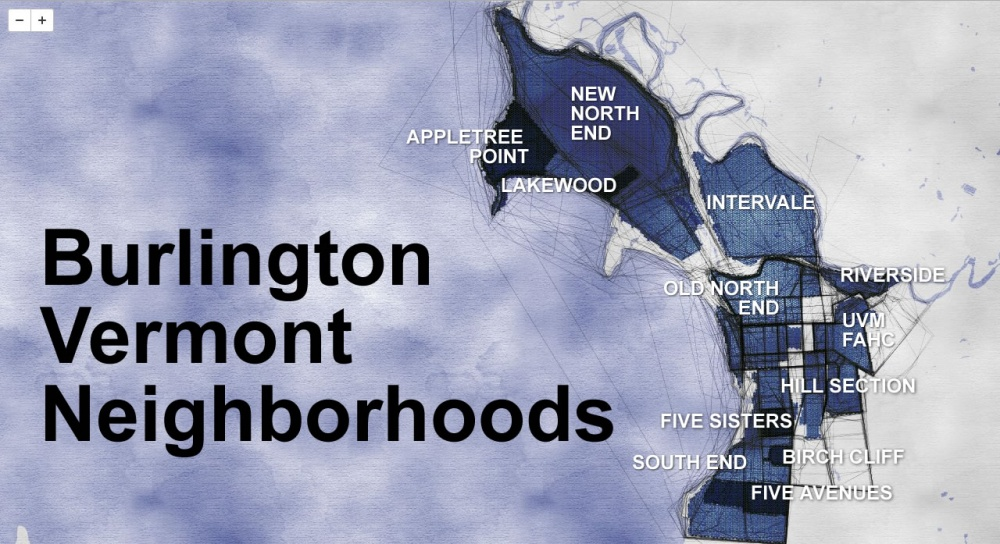 Crowdsourced neighborhood-mapping project in Burlington